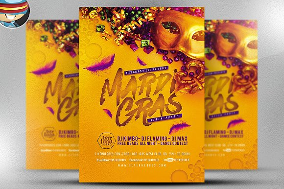 Mardi Gras After Party Flyer