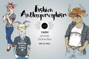 fashion farm furry art characters