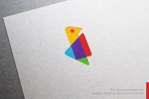Colorful Letter I Logo