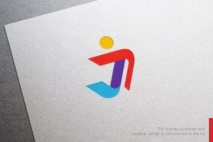 Colorful Letter J Logo