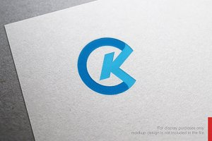 Colorful Letter K Logo