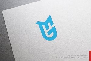Colorful Letter M G Logo