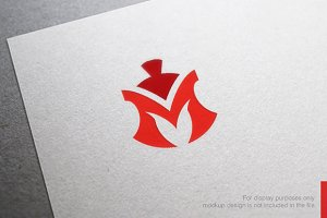 Colorful Letter M Spartan Logo