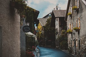 Beautiful medieval town Yvoire