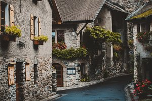 Beautiful small medieval town Yvoire