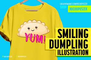 Happy Dumpling Illustration
