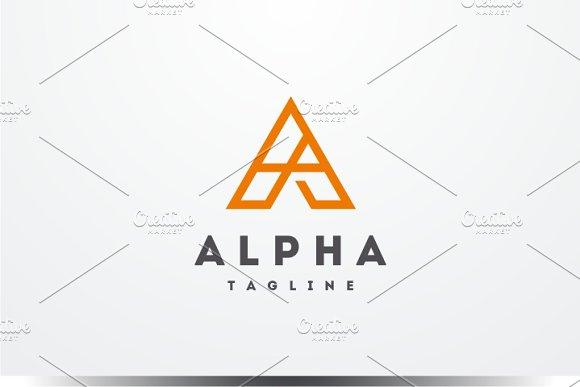 Alpha Letter A Logo
