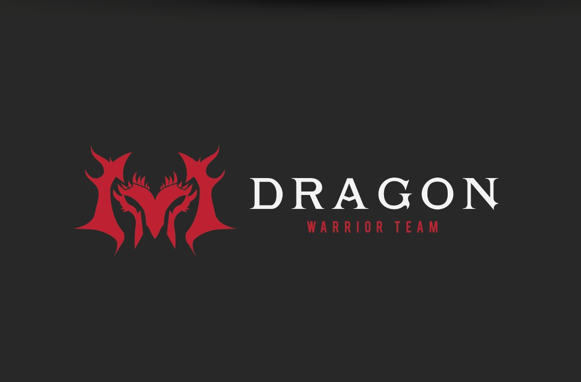 Dragon Warrior Team ~ Logo Templates ~ Creative Market