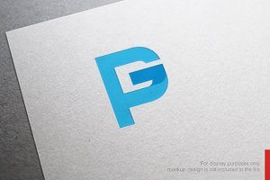 Abstract Letter P G Logo