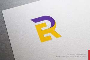 Abstract Letter E R Logo