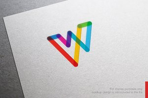 Abstract Letter W Logo