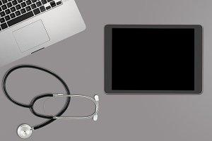 Desktop concept for electronic medical records