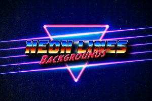 80s styled neon lines backgrounds