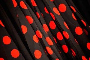 Polka dot fabric to dance flamenco