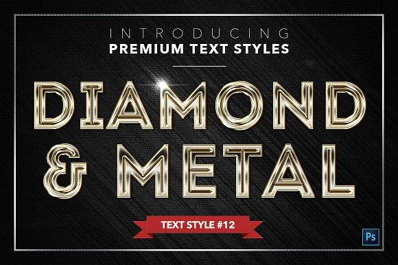 Diamond & Metal #2 - 16 Text Styles