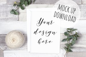 Rustic Card and Invite Mockup Photo