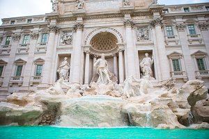 Beautiful Fountain de Trevi in Rome, Italy. The most popular area in Rome