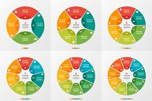 Circle chart infographic templates