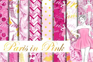 Paris digital paper pack