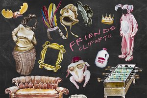 Friends Tv Show Cliparts