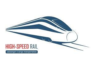 High-speed rail emblem