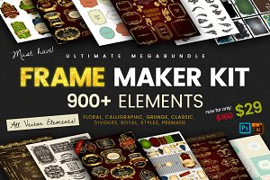 FRAME maker kit | 900+ elements
