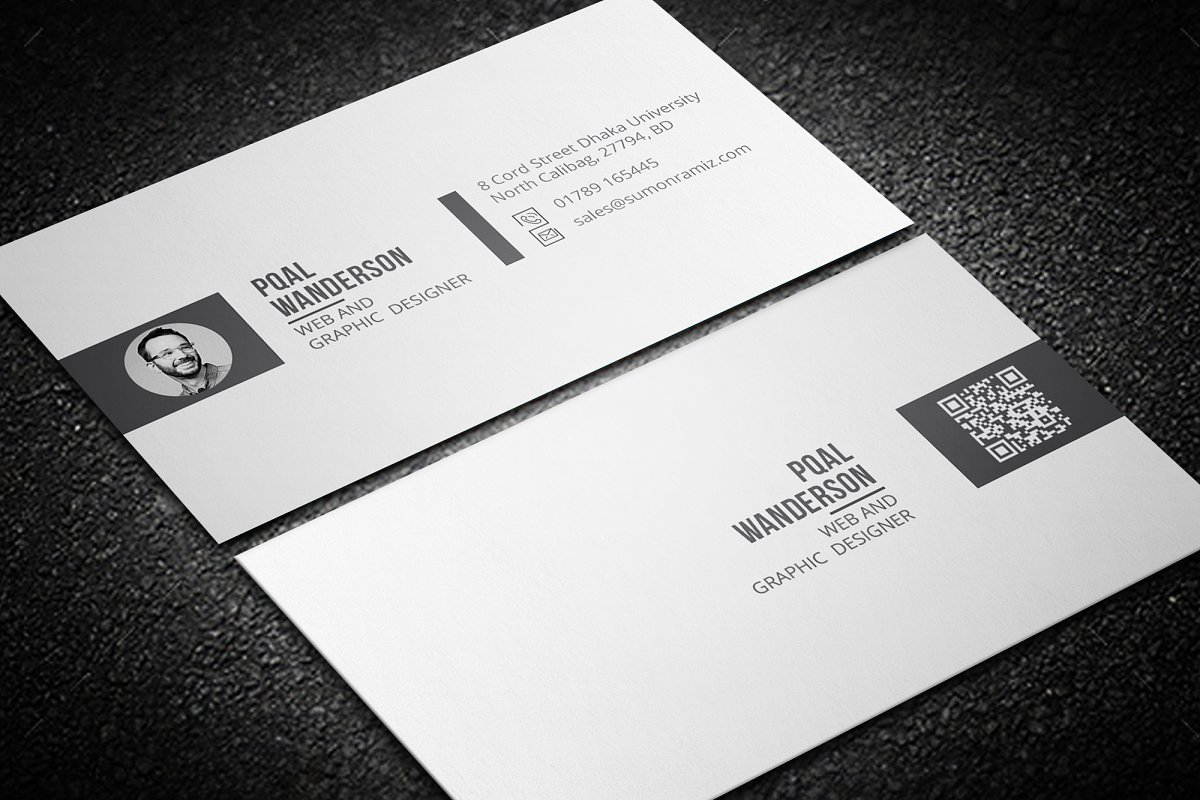 Personal Business Card in Business Card Templates - product preview 4