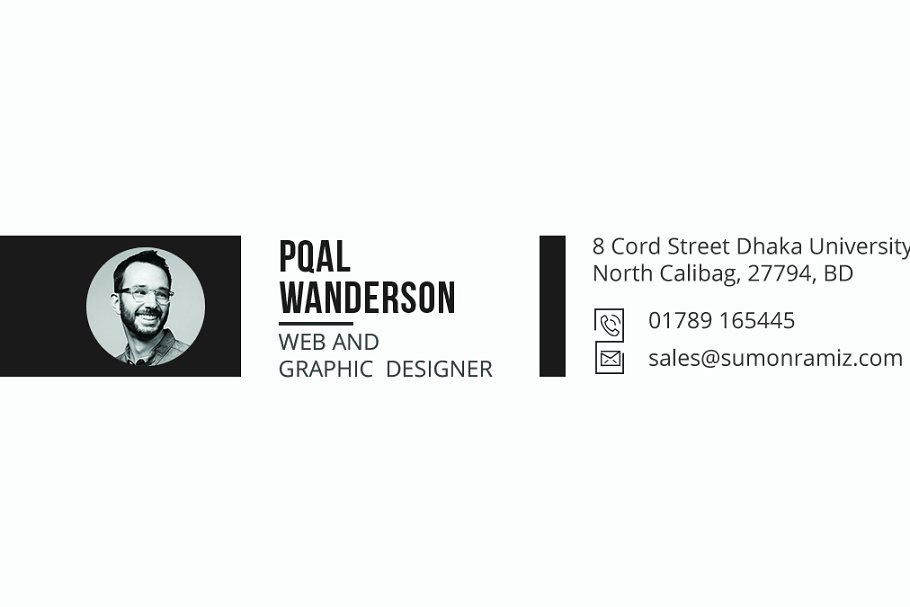 Personal Business Card in Business Card Templates - product preview 3