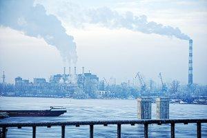 Industrial Winter Landscape