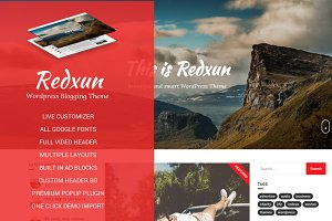 Redxun - Blogging WordPress Theme