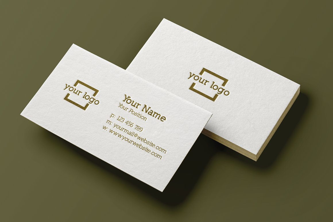 minimalist business card template business card templates creative market. Black Bedroom Furniture Sets. Home Design Ideas