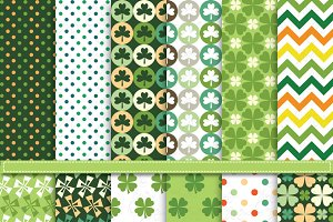 St.Patrick's digital paper pack