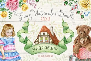 50%OFF Fancy Watercolor Bundle