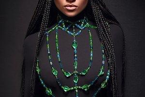 African-American girl.