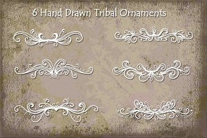 Hand Drawn Tribal Ornaments