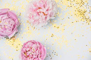 Peony Styled Photo and Glitter