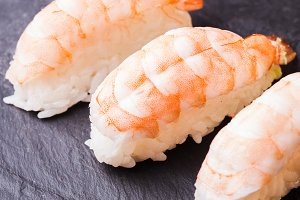 Ebi sushi with shrimp