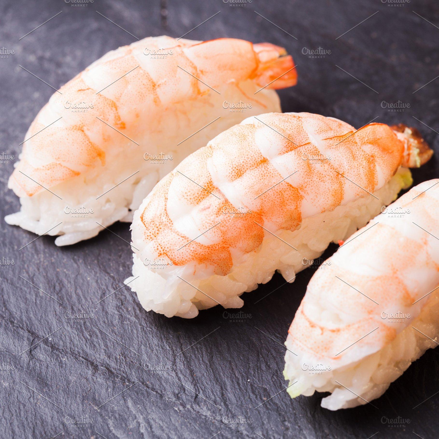 Ebi Sushi With Shrimp Food Drink Photos Creative Market