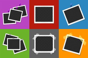 Collage of vector photo frames
