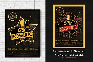 2 Bowling Mag. Ad, Poster, Flyer