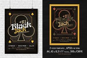 2 Black Jack Mag. Ad, Poster, Flyer