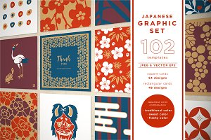 JAPANESE GRAPHIC SET 102 templates