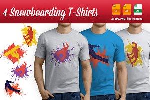 4 Snowboarding T-Shirts