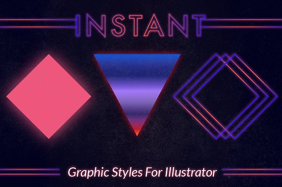 80s Instant Illustrator Styles - Layer Styles