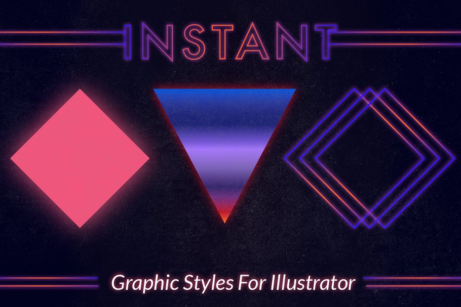 80s Instant Illustrator Styles ~ Illustrator Add-Ons ~ Creative Market