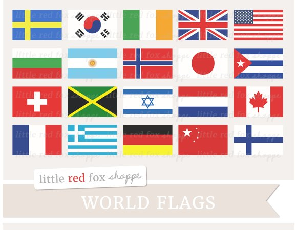 World Flag Clipart ~ Illustrations ~ Creative Market