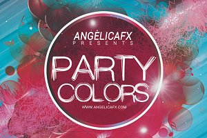 Party Colors Flyer Template
