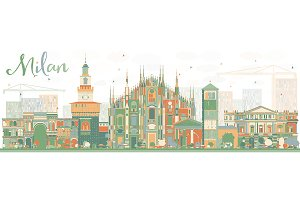 Abstract Milan Skyline