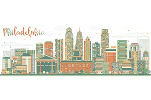 Abstract Philadelphia Skyline