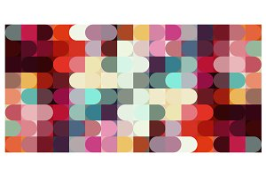 Vector Color Pills Mosaic Pattern